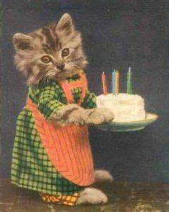 Dressed Kitten with Cake, Happy Birthday | Te amo ...
