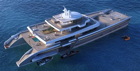 Largest Catamaran Yacht by Wordlesstech Manifesto Catamaran Mega Yacht