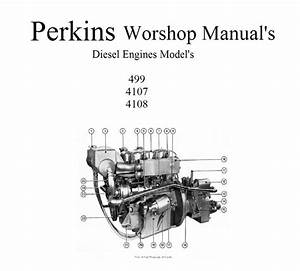 Perkins Marine Diesel Engines 4 108 4 107 4 99 Workshop