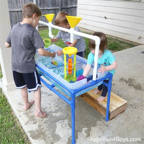 play day sand and water activity table how to make a pvc pipe sand and water table