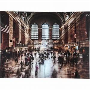 Tableau En Verre : tableau en verre grand central station 120x160cm kare design ~ Melissatoandfro.com Idées de Décoration