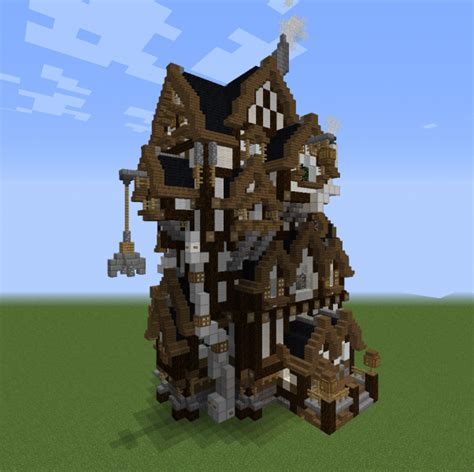 industrial steampunk house  grabcraft  number  source  minecraft buildings