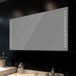 miroir de salle de bain avec eclairage led achat vente With salle de bain design avec miroir de salle de bain castorama