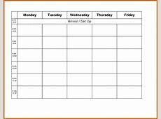 11+ monday through friday printable calendar Lease Template