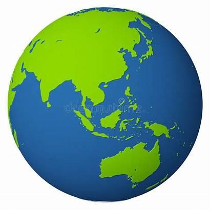 Globe Asia Australia Clipart Earth Royalty Transparent