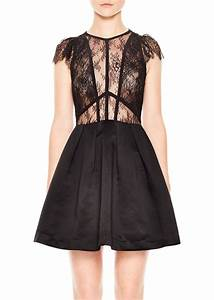sandro sandro davina lace bodice dress dresses shop it With robe rouge sandro