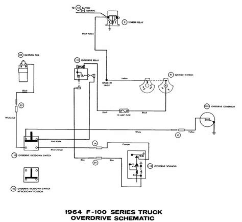1955 Thunderbird Overdrive Wiring Diagram by Ford F100 Truck 1964 Overdrive Wiring Diagram All About