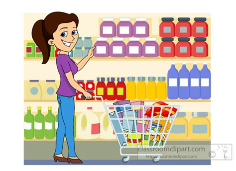 Grocery Store Clipart Grocery Clipart Clipart Shopping At Grocery Store