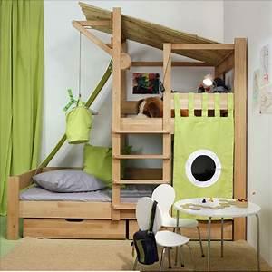 Lit Cabane Pour Enfant : lit volutif cabane bruno de breuyn secret de chambre ~ Teatrodelosmanantiales.com Idées de Décoration