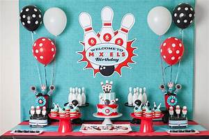A Boy's Retro Bowling Birthday Party - Anders Ruff Custom