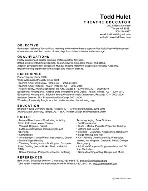 Resume Of by Resumes Resume Cv Exle Template