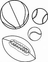 Balls Coloring Sports Printable sketch template