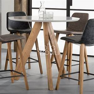 Table Style Scandinave : table de bar scandinave sofamobili ~ Teatrodelosmanantiales.com Idées de Décoration