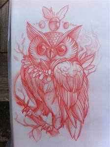 Owl Tattoo Sketch | Tattoo inspiration | Pinterest ...