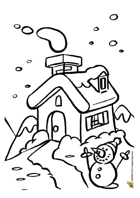 jeu de cuisine gateau dessin à colorier d 39 un chalet sous la neige