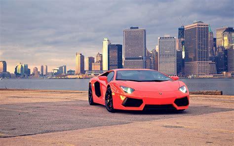 Hd Beautiful Car Wallpapers For Laptop by Car Lamborghini Lamborghini Aventador City Cityscape