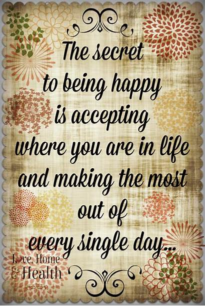 Being Quotes Health Single Happy Secret Quote