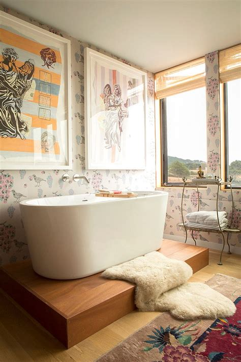 revitalized luxury  soothing shabby chic bathrooms