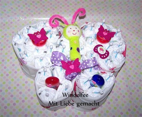 windeln zu verschenken windeltorte schmetterling windeln geburt geschenk verschenken schenken baby idee ideen f 252 r
