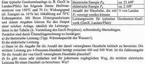 Thermische Leistung Berechnen : geothermie thermische elektrische leistung ~ Themetempest.com Abrechnung
