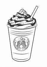 Starbucks Coloring Pages Frappuccino Coffee Draw Drawing Drawings Printable Drawingtutorials101 Step Frap Frappucino Colouring Sheets Sketch Ice Clip Cups Template sketch template
