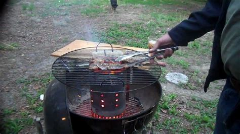 cooking with charcoal cooking with ed seared steak on a charcoal chimney mp4 youtube