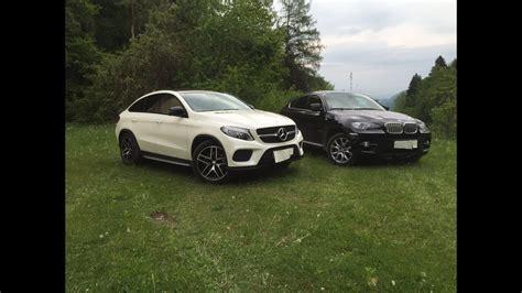 Photo comparison bmw x6 m50i vs mercedes amg gle 53 coupe. Mercedes GLE Coupe 350d vs BMW X6 xDrive40d E71 Comparison ...