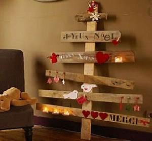 Arbre En Bois Deco : du bois de cagette pour un sapin de noel deco ~ Premium-room.com Idées de Décoration