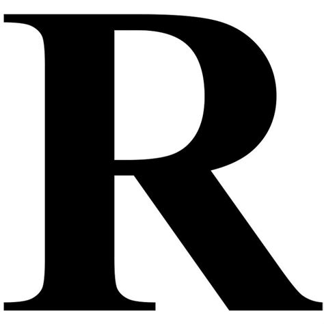 the letter r the letter r in black times new serif font typeface