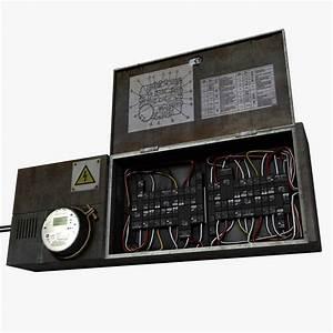 Circuit Breaker Fuse Box 3d 3ds