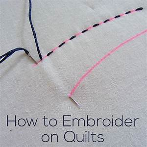 How do i embroider on quilts shiny happy world for How to transfer letters to fabric for embroidery