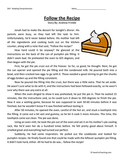 fifth grade reading comprehension worksheets page 5 of 8
