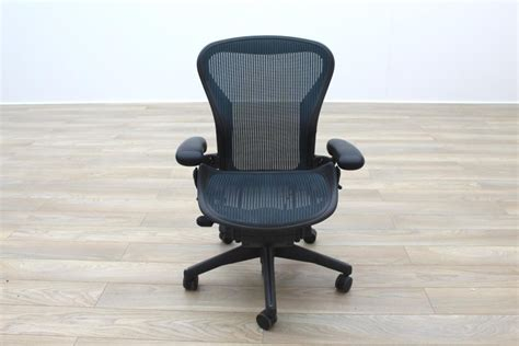 herman miller aeron green mesh size b office task chair ebay