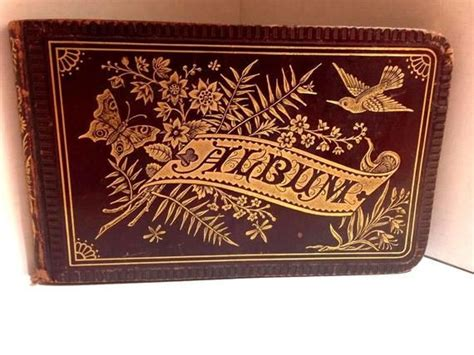 antique victorian autograph book circa  beautiful