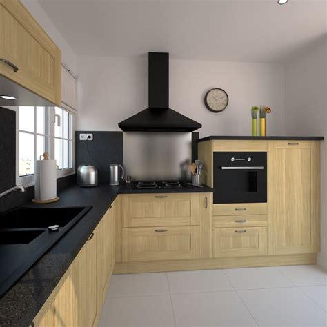 exemple cuisine ouverte s駛our cuisine bois verni rustique modèle basilit bois verni plan de travail and cuisine