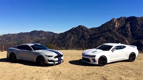 Gt350 Vs Camaro by 2016 Chevrolet Camaro Ss 2016 Ford Shelby Gt350 2017