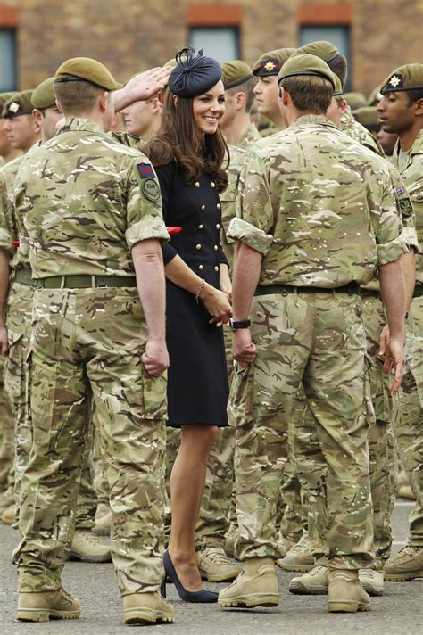 Kate Middleton dons Alexander McQueen military look on ...