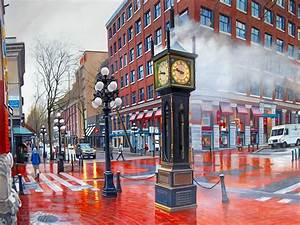 Gastown Steam Clock After The Rain