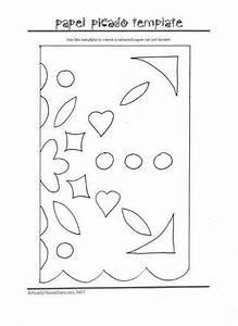 Mexico crafts papel picado template free printable for Papel picado template for kids