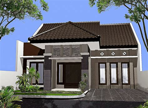gambar design rumah gaya bali rumah xy