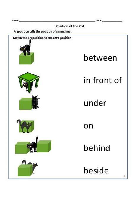 prepositions worksheets  grade    teacherlingo