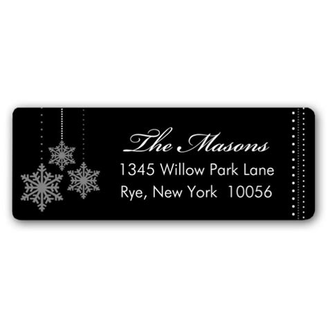 silver address label dainty snowflakes silver holiday address labels paperstyle