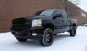 Black 2009 Chevy Silverado With 4 Inch Readylift Lift Kit