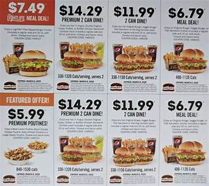 Harvey's Canada Coupons(Ontario): Valid until March 8, 2020
