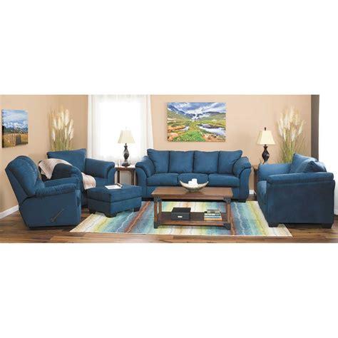 darcy dark blue sofa 7500738 ashley furniture afw