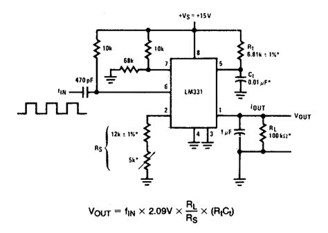 Simple Frequency Vvoltage Converter Circuit Diagram