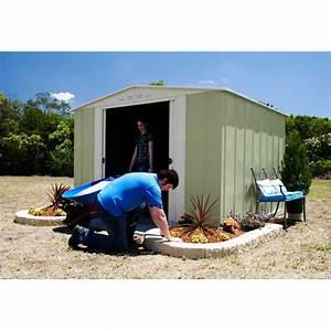 Abri En Kit : abri de jardin m tal colorbond 8 53m treco kit d 39 ancrage ~ Premium-room.com Idées de Décoration