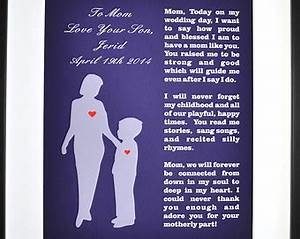 mother of the groom gift from son wedding thank you gifts With son to mother wedding gifts