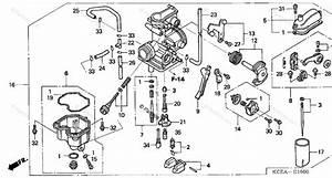 Honda Motorcycle 2004 Oem Parts Diagram For Carburetor