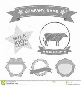 Butcher Shop Labels And Design Elements Farm  Cow Milk